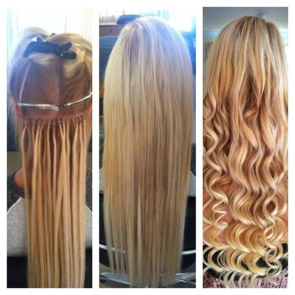 Micro Bead Hair Extensions Tiara Hairdressing Beauty Salon